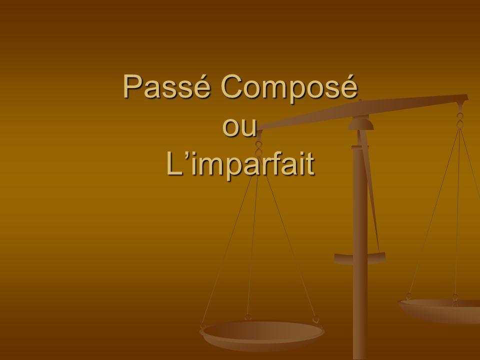 Passé Composé Le passé composé est employé quand une action est complète Le passé composé est employé quand une action est complète Hier, il a plu.