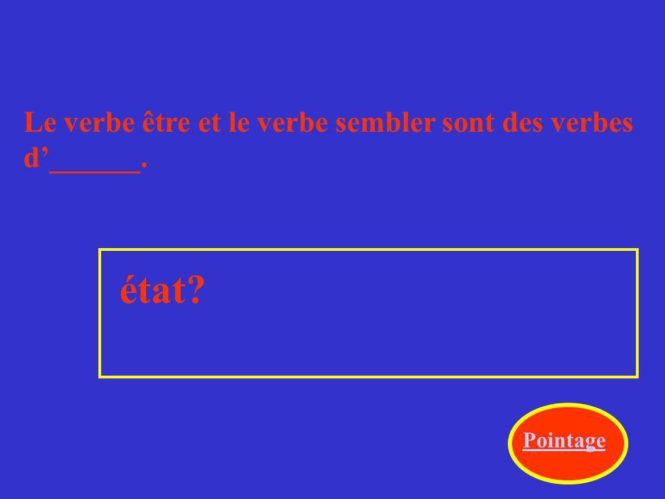 Dans la phrase: Luc est lami de Pierre. Luc est le ______ du verbe. Sujet? Pointage