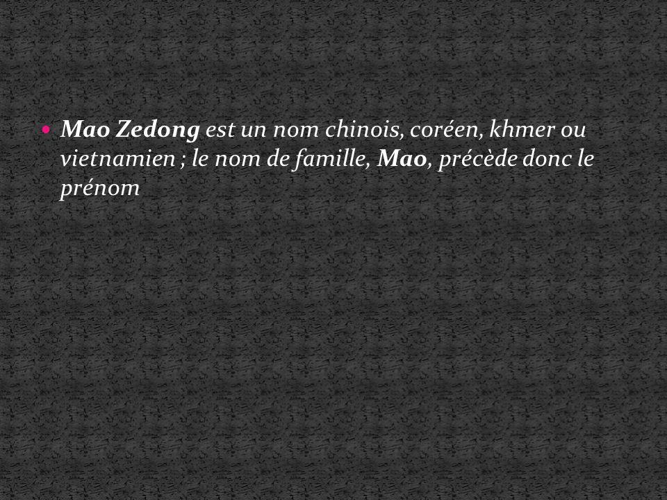 Mao Zedong ou Mao Tsé-toung (??.