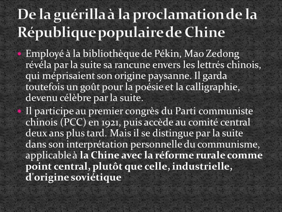 Employé à la bibliothèque de Pékin, Mao Zedong révéla par la suite sa rancune envers les lettrés chinois, qui méprisaient son origine paysanne. Il gar