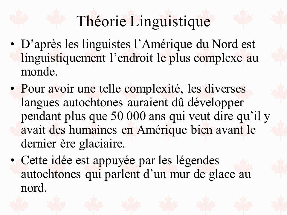 Théorie Linguistique Daprès les linguistes lAmérique du Nord est linguistiquement lendroit le plus complexe au monde. Pour avoir une telle complexité,