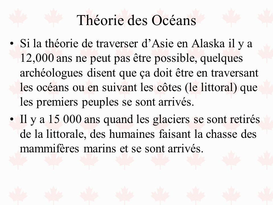 Théorie des Océans Si la théorie de traverser dAsie en Alaska il y a 12,000 ans ne peut pas être possible, quelques archéologues disent que ça doit êt