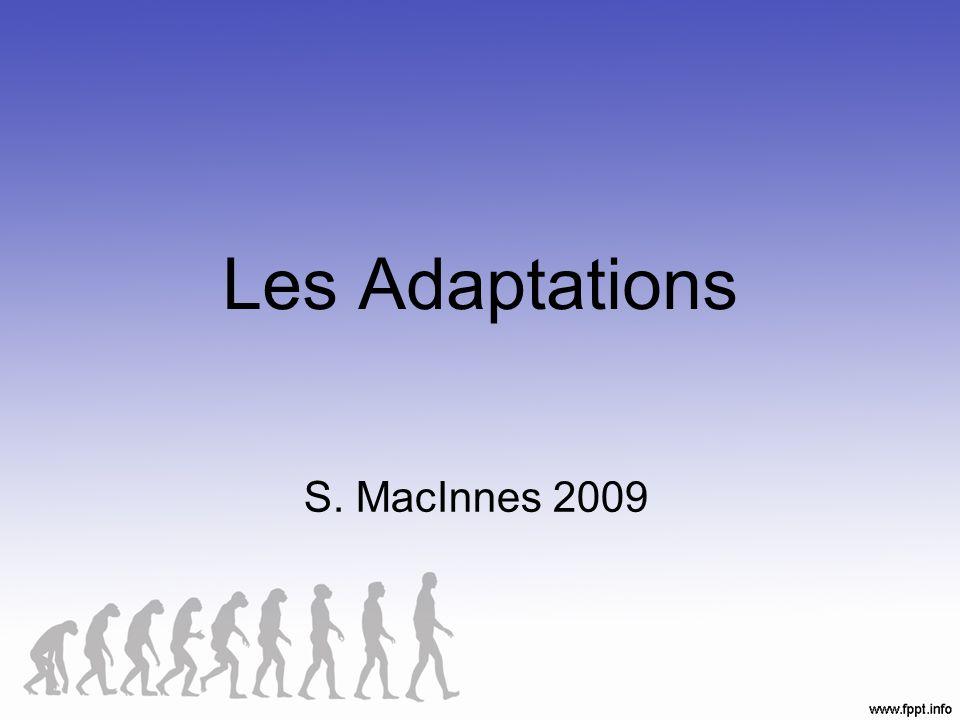 Une adaptation… …est un changement qui aide un organisme à vivre et è se reproduire dans un environnement donné.