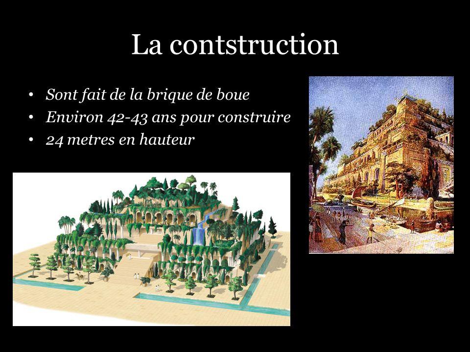 La contstruction Sont fait de la brique de boue Environ 42-43 ans pour construire 24 metres en hauteur