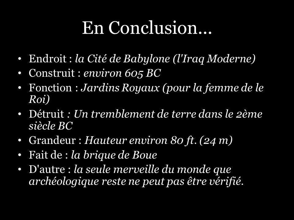 En Conclusion...