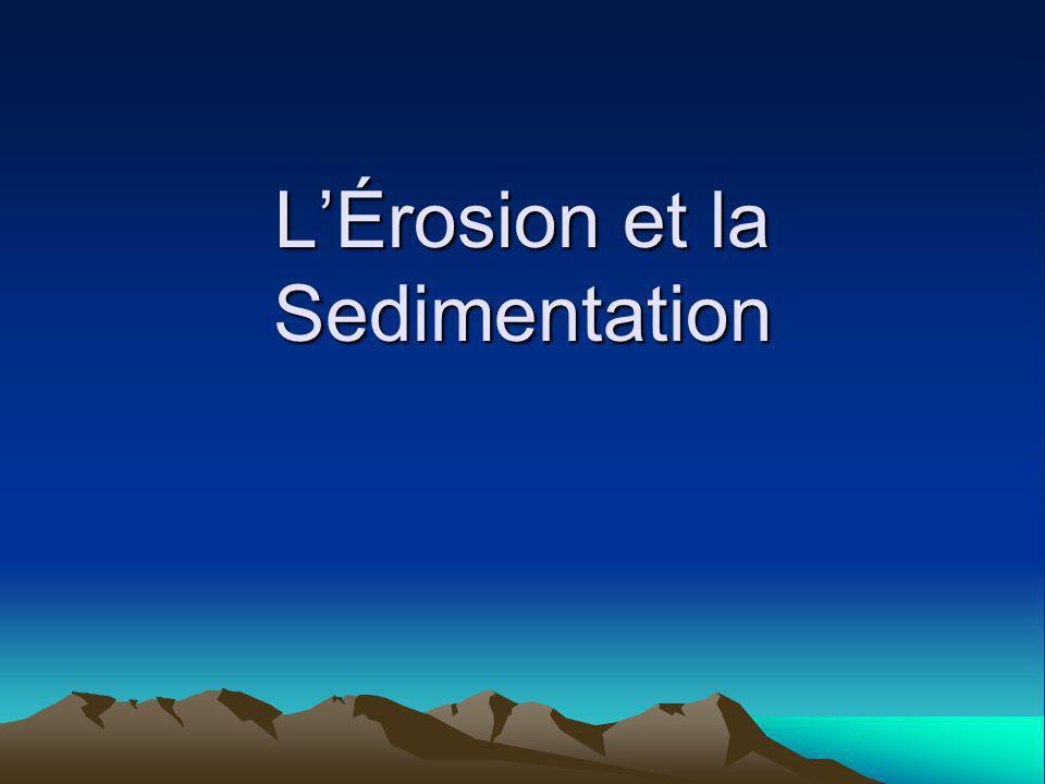 LÉrosion et la Sedimentation