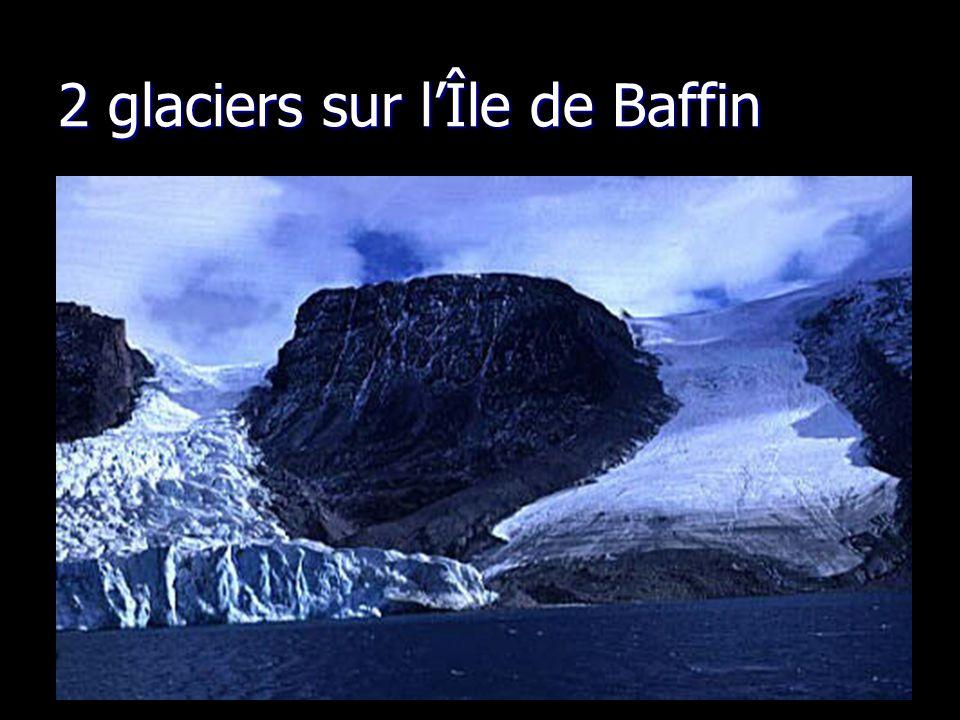 2 glaciers sur lÎle de Baffin