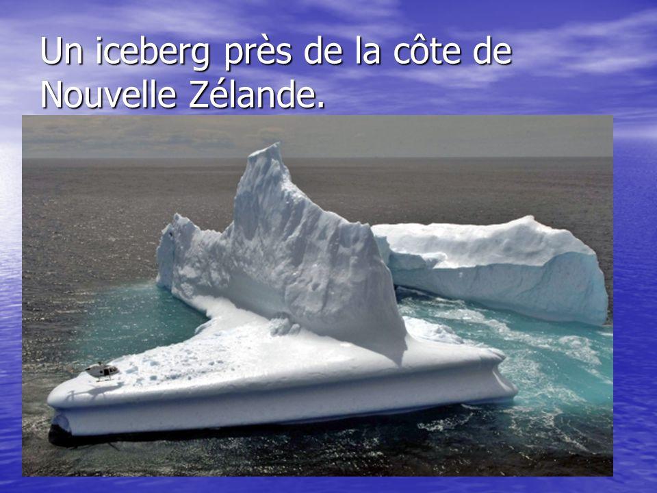 Un iceberg près de la côte de Nouvelle Zélande.
