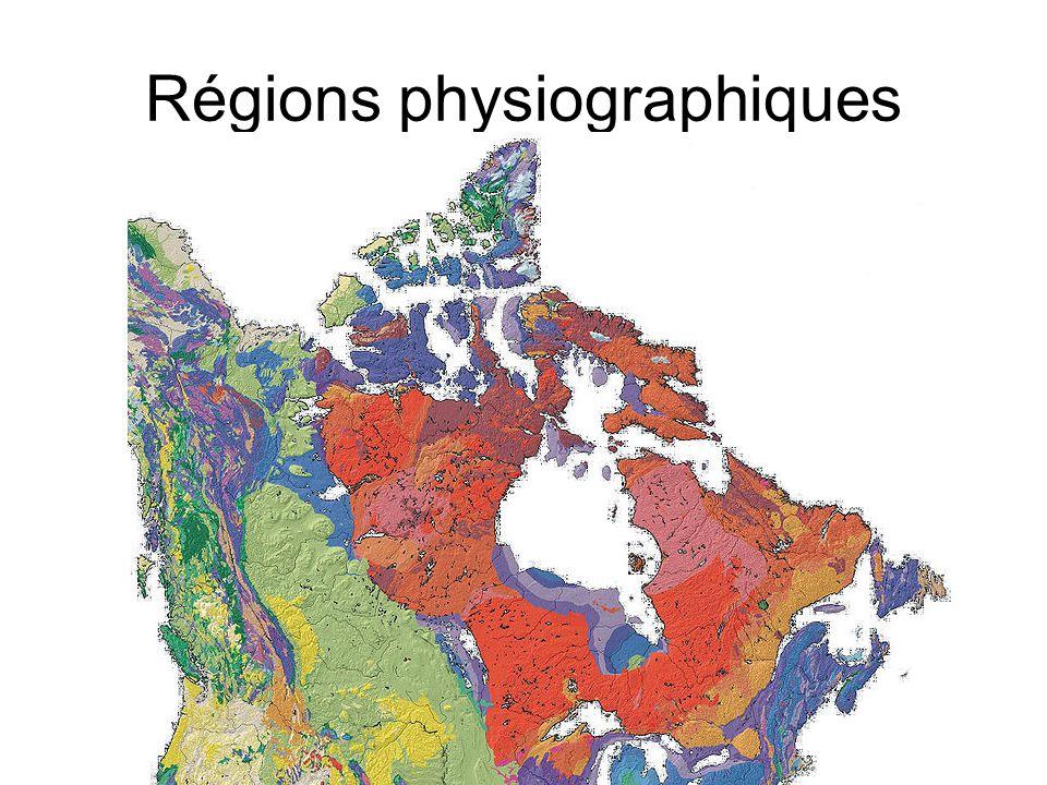 Régions physiographiques