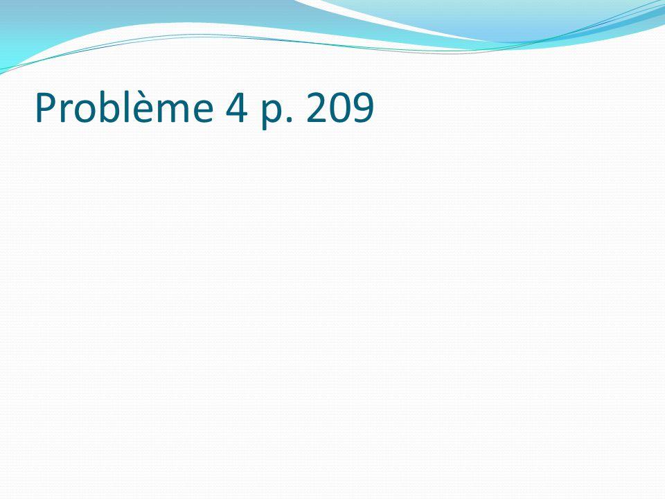 Problème 4 p. 209