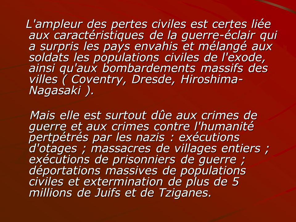 LHolocauste Si les Nazis éliminaient leurs ennemis extérieurs, ils ennemis extérieurs, ils éliminaient aussi leurs éliminaient aussi leurs ennemis intérieurs, les peuples étrangers.