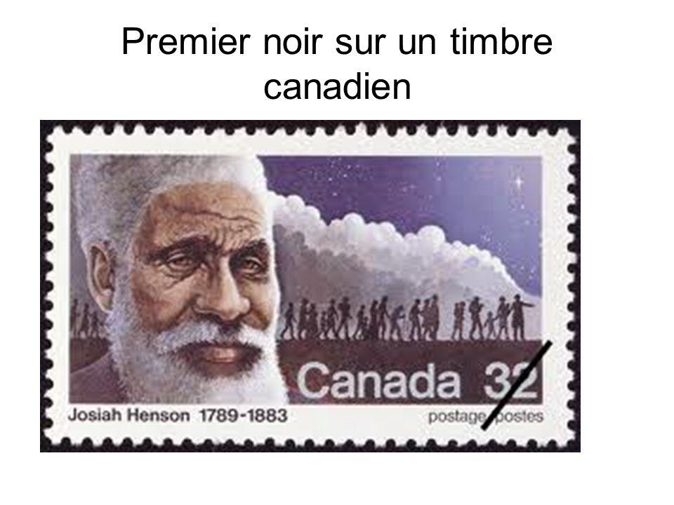 Premier noir sur un timbre canadien