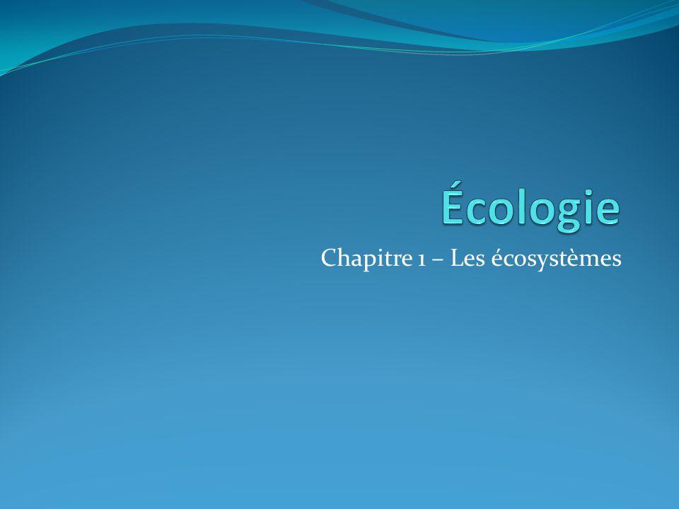 Chapitre 1 – Les écosystèmes