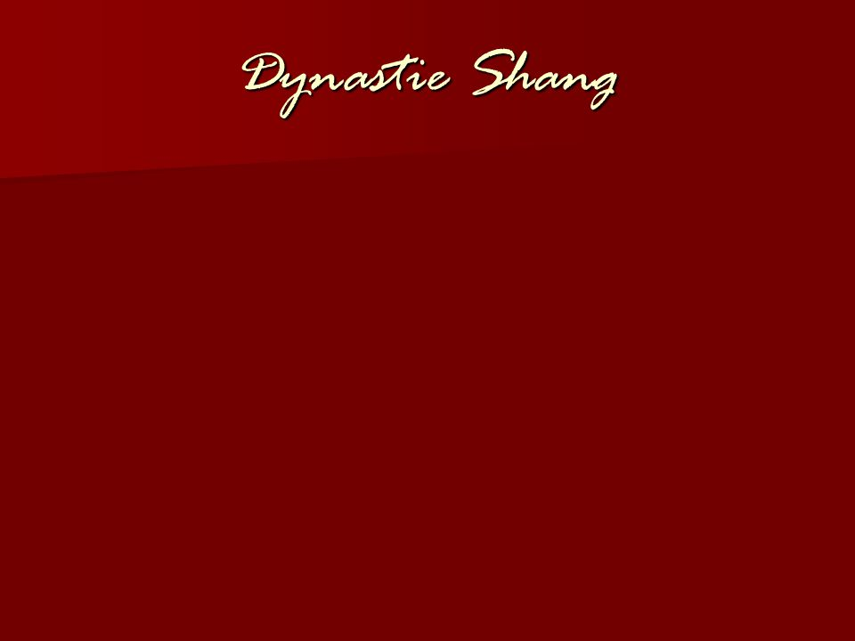 Dynastie Shang