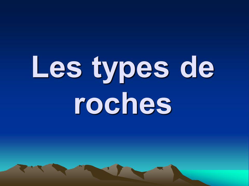 Les types de roches