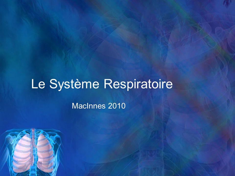 Le Système Respiratoire MacInnes 2010