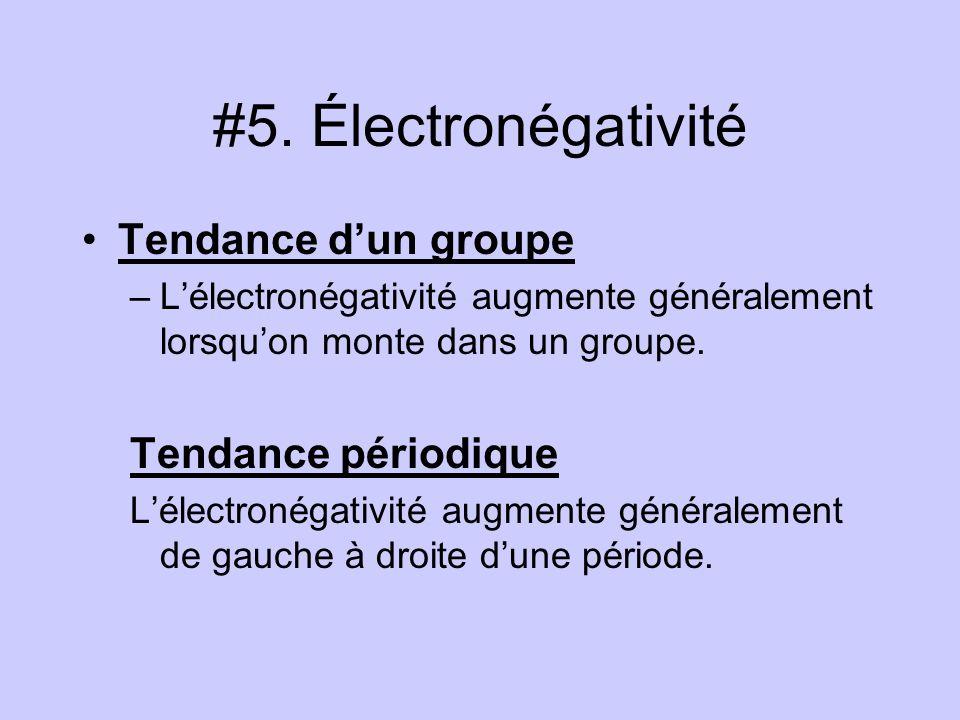 #5. Électronégativité Exceptions: Les gaz nobles ne sont pas inclus dans ces tendances générales.