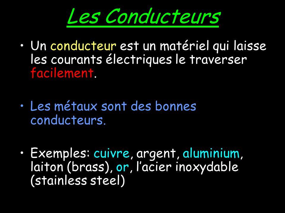 La Conduction Électrique La Conduction est la mouvement des électrons à travers une substance.