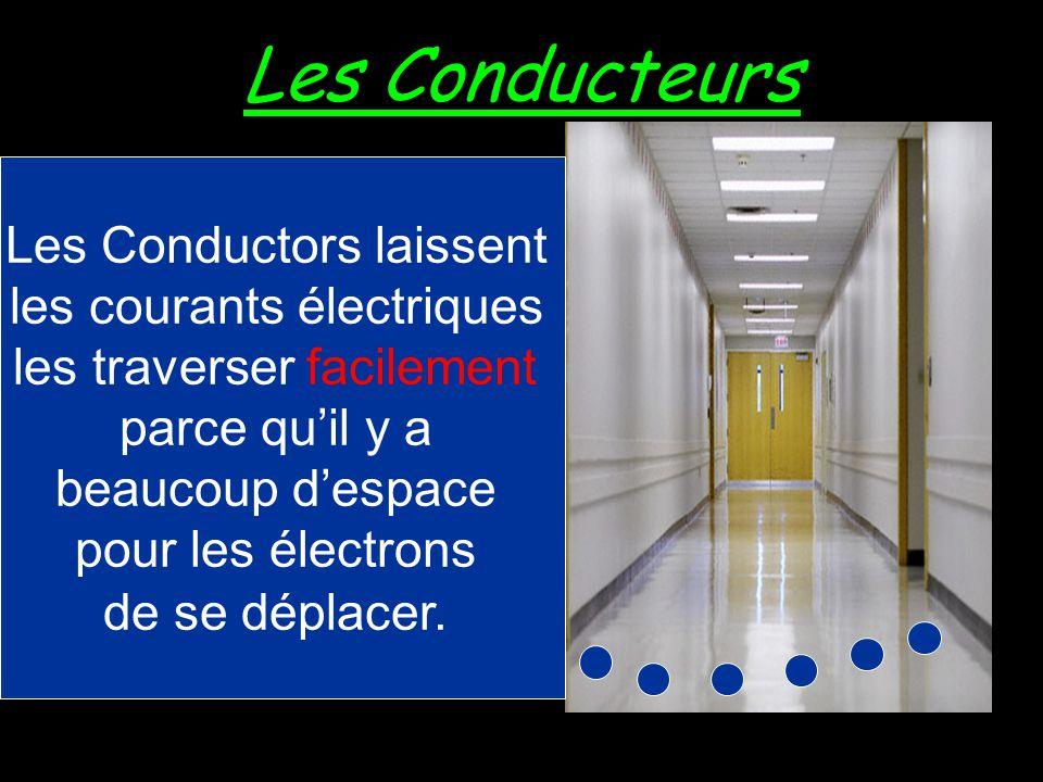 Les Conducteurs Un conducteur est un matériel qui laisse les courants électriques le traverser facilement.
