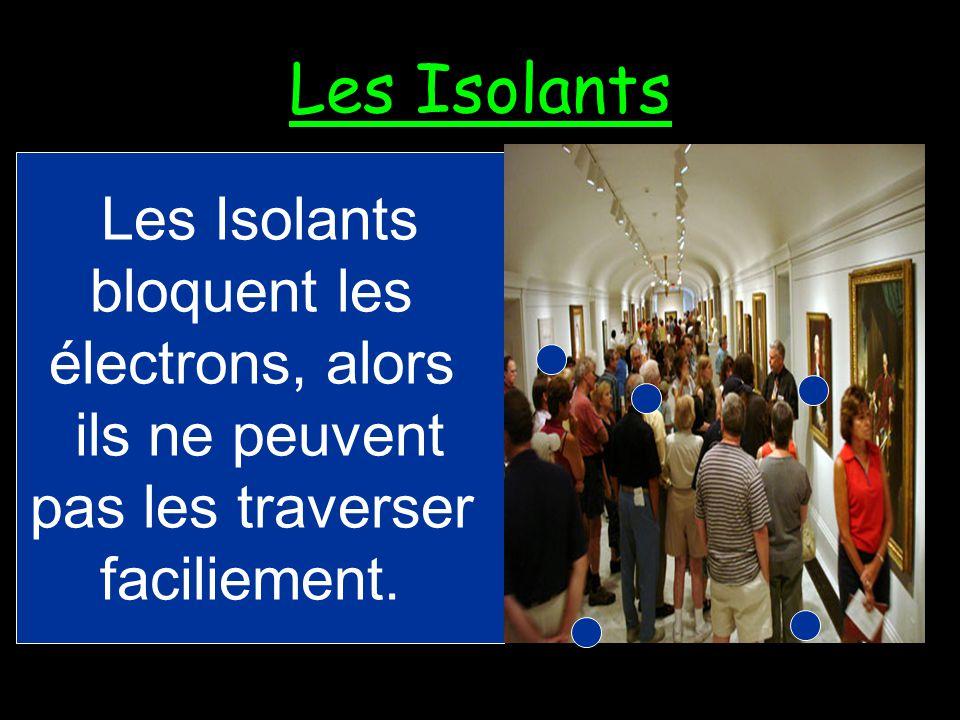 Les Isolants Un isolant est un matériel qui ne laisse pas les courants électriques le traverser facilement.