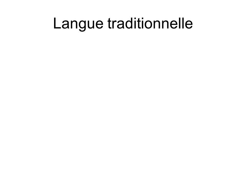 Langue traditionnelle
