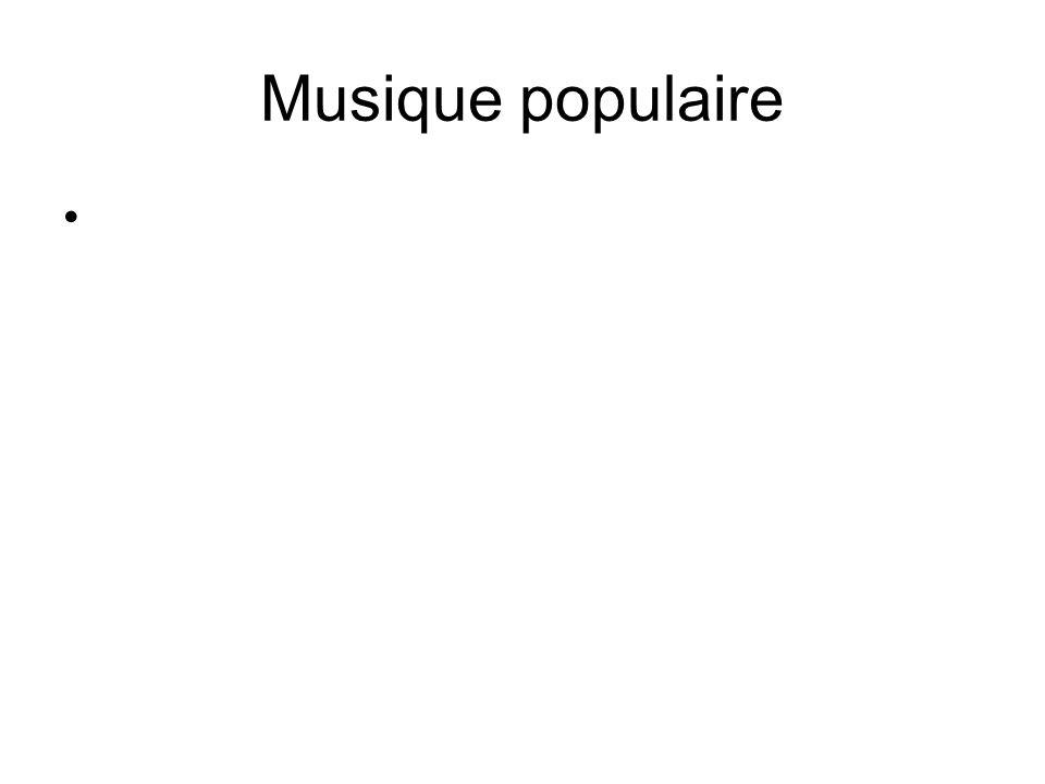 Musique populaire