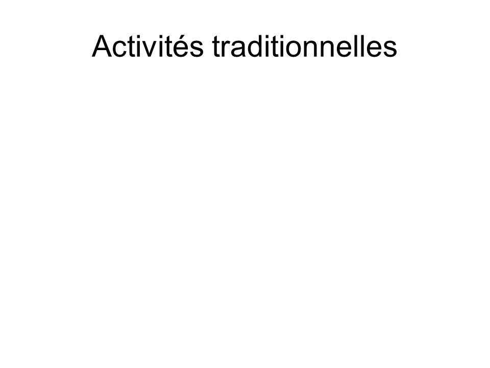 Activités traditionnelles