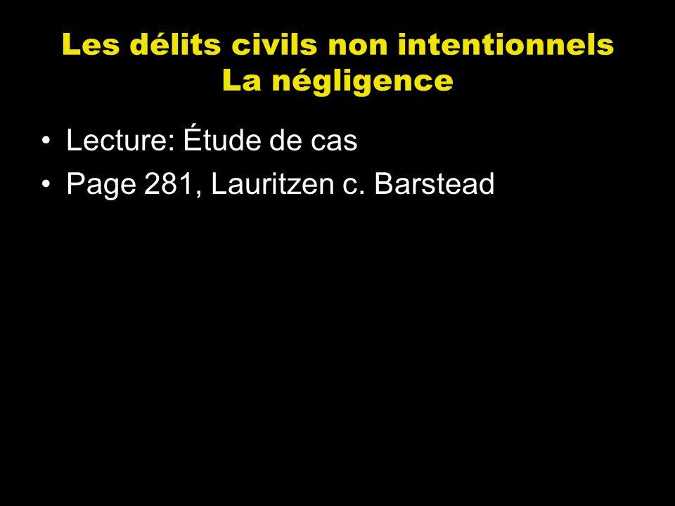 Lecture: Étude de cas Page 281, Lauritzen c. Barstead