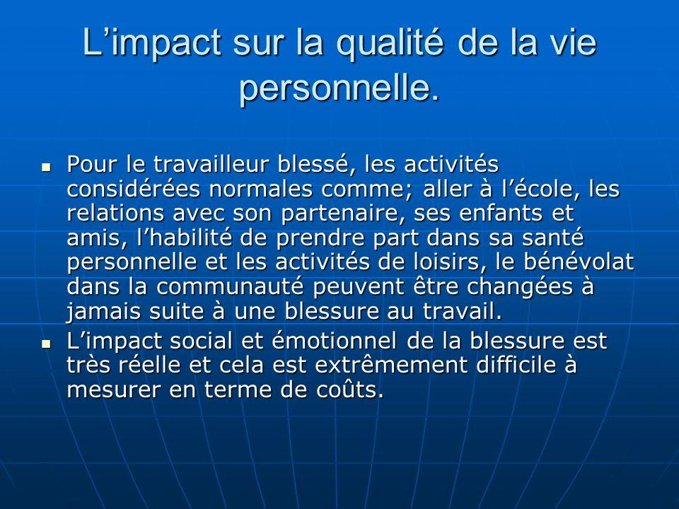 Impact indirect sur les lieux du travail.