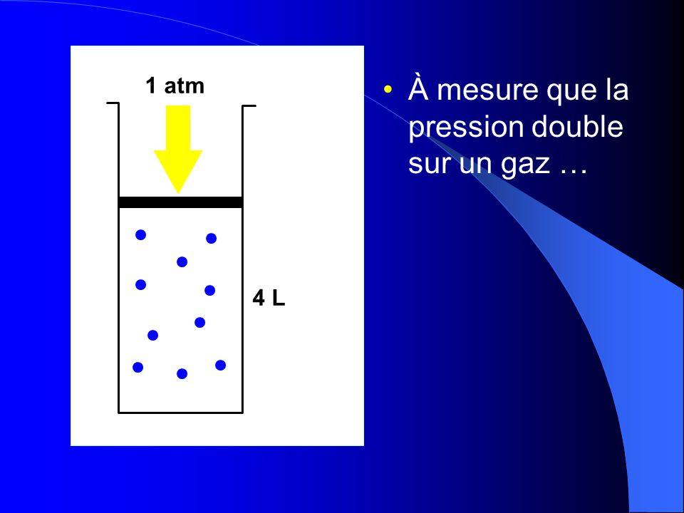 La pression: la loi de Boyle-Mariotte On peut exprimer ce rapport de façon plus pratique en comparant deux ensembles de mesures de la pression et du v