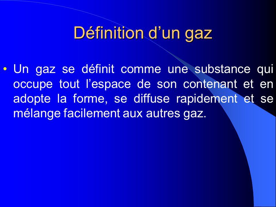 Les propriétés et les régularités a)Les gaz remplissent toujours leur contenant.