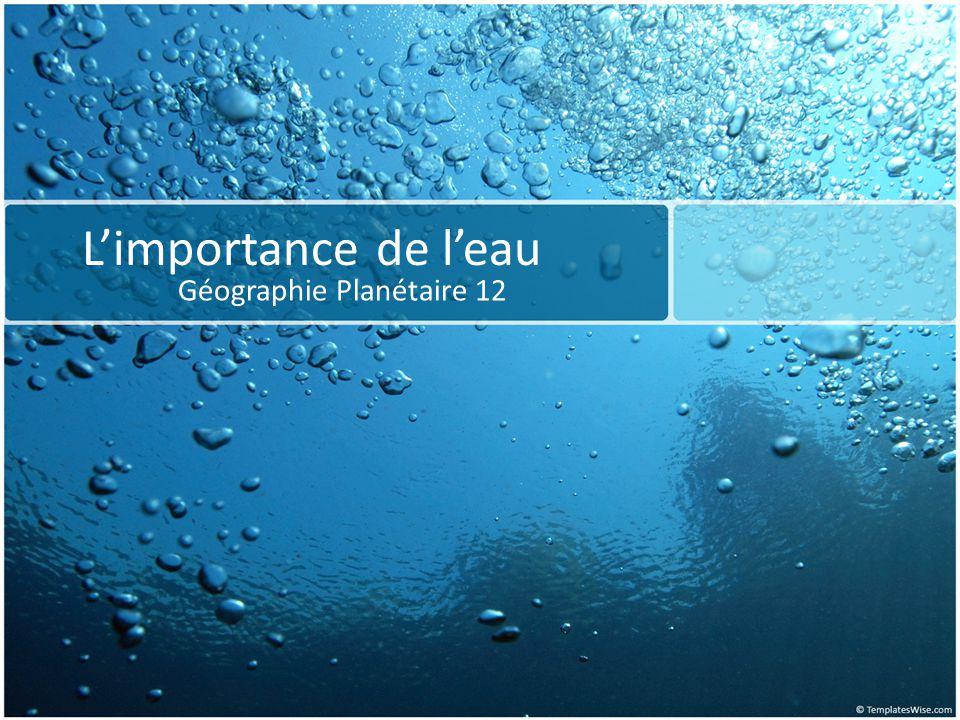 Questions intéressants Sommes-nous conscients que 1,2 milliard de personnes n ont pas acc è s à l eau potable .