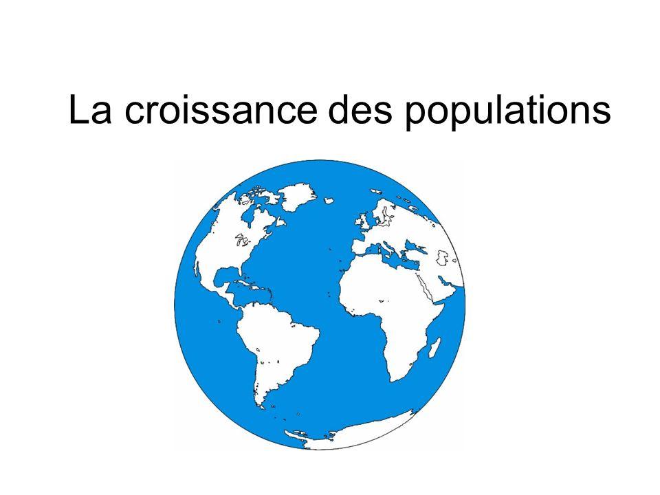 Rappelez-vous: Population: Un ensemble d individus dune même espèce qui se perpétuant dans un territoire donné