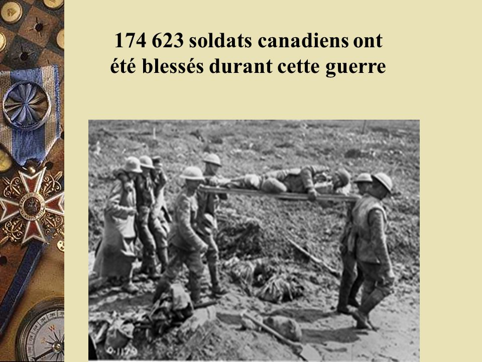 World War I The Great War The guns were roaring, then suddenly there was an eerie silence and four years of blood shed had come to an end. Après quatre longues années, 60 000 jeunes canadiens ont perdu leur vie.
