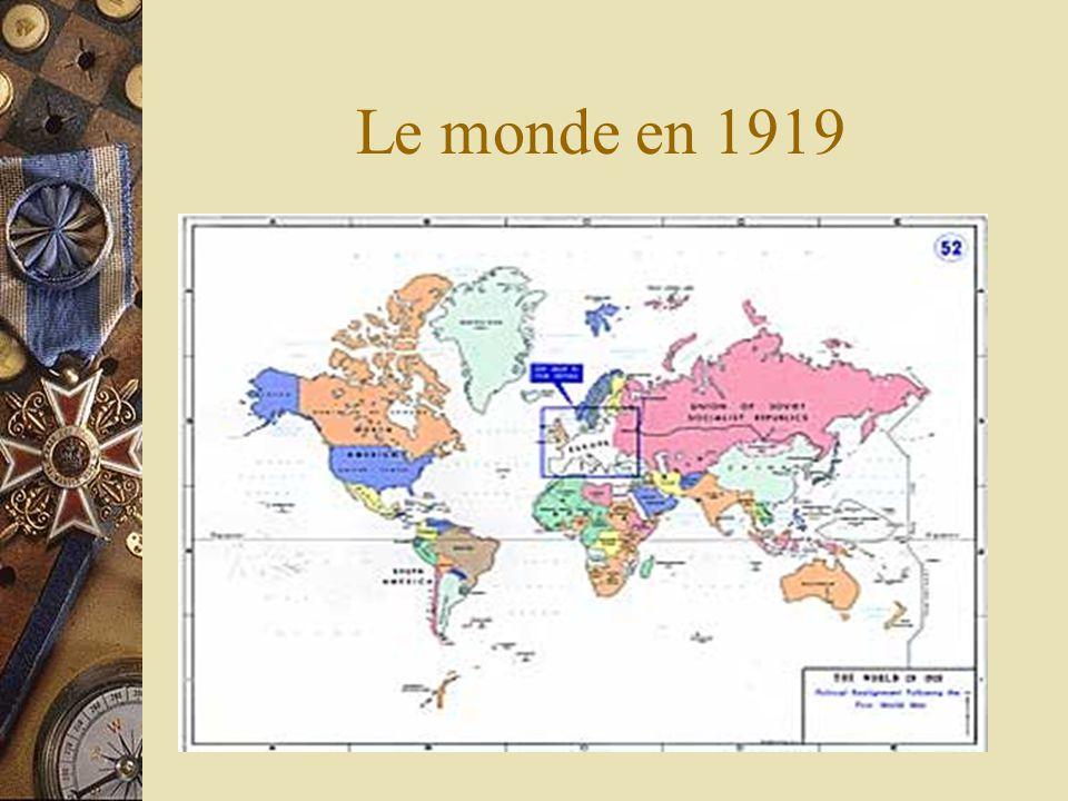 Le monde en 1919