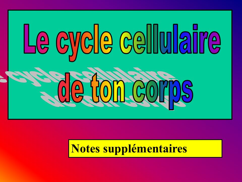 Notes supplémentaires
