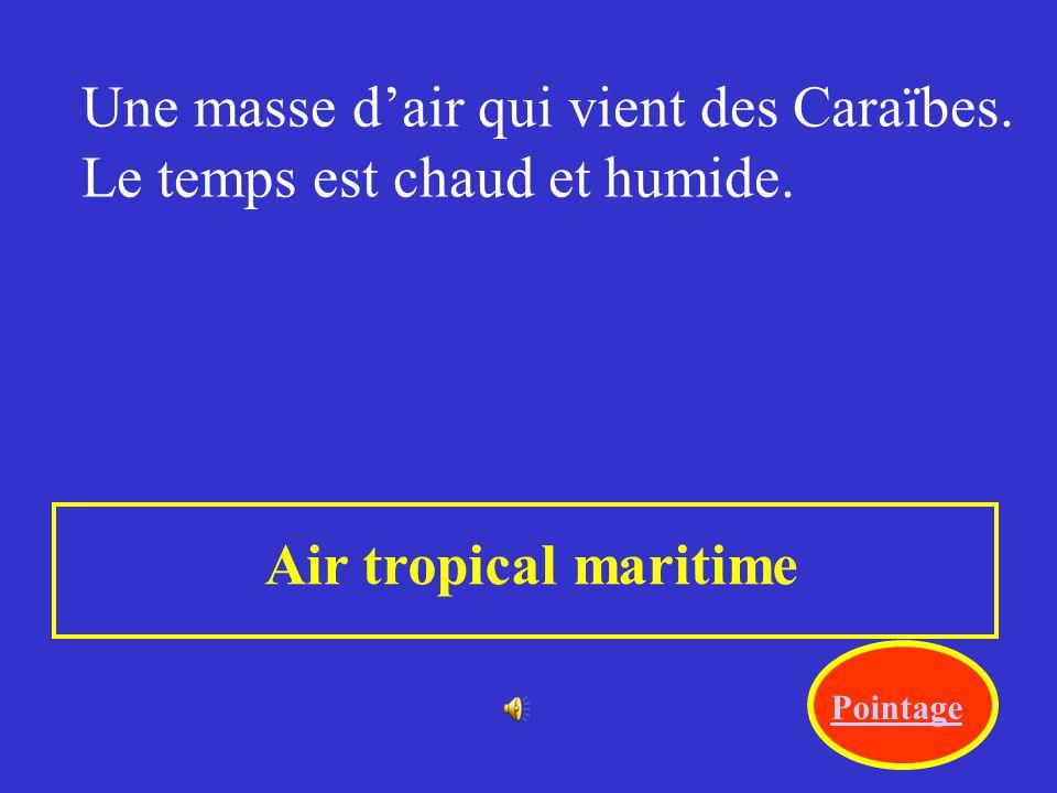 Le déplacement des masses dair, comme celui du vent, est dû au changement de pression. Attaque dune masse dair donnant ses caractéristiques à un autre