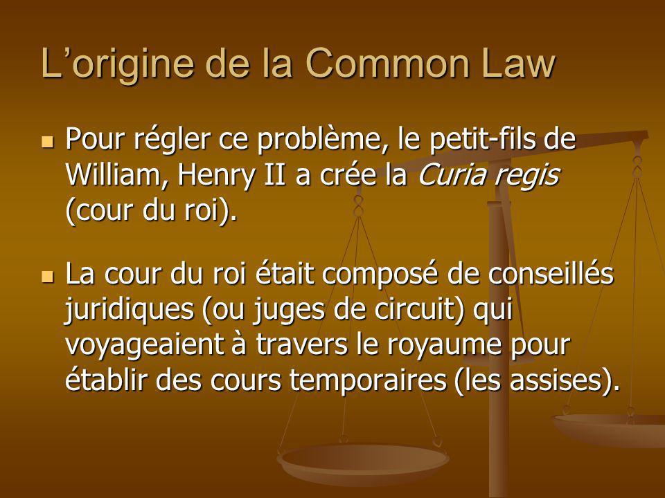 Pour régler ce problème, le petit-fils de William, Henry II a crée la Curia regis (cour du roi). Pour régler ce problème, le petit-fils de William, He
