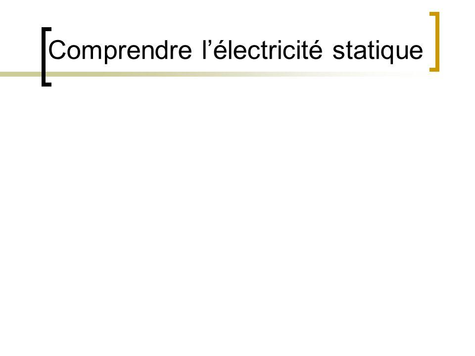 Comprendre lélectricité statique