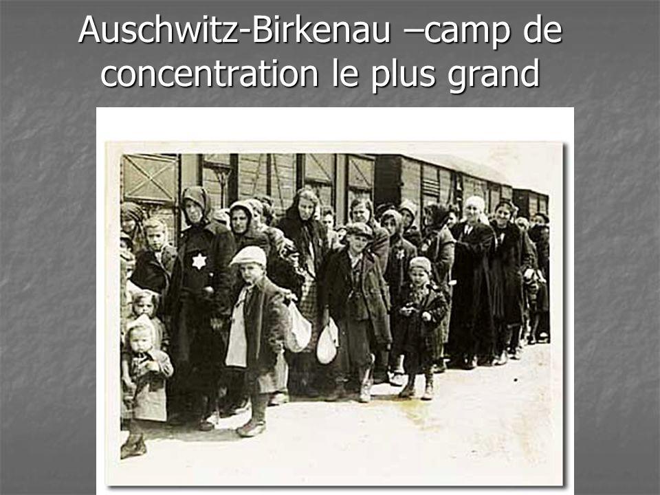 Auschwitz-Birkenau –camp de concentration le plus grand