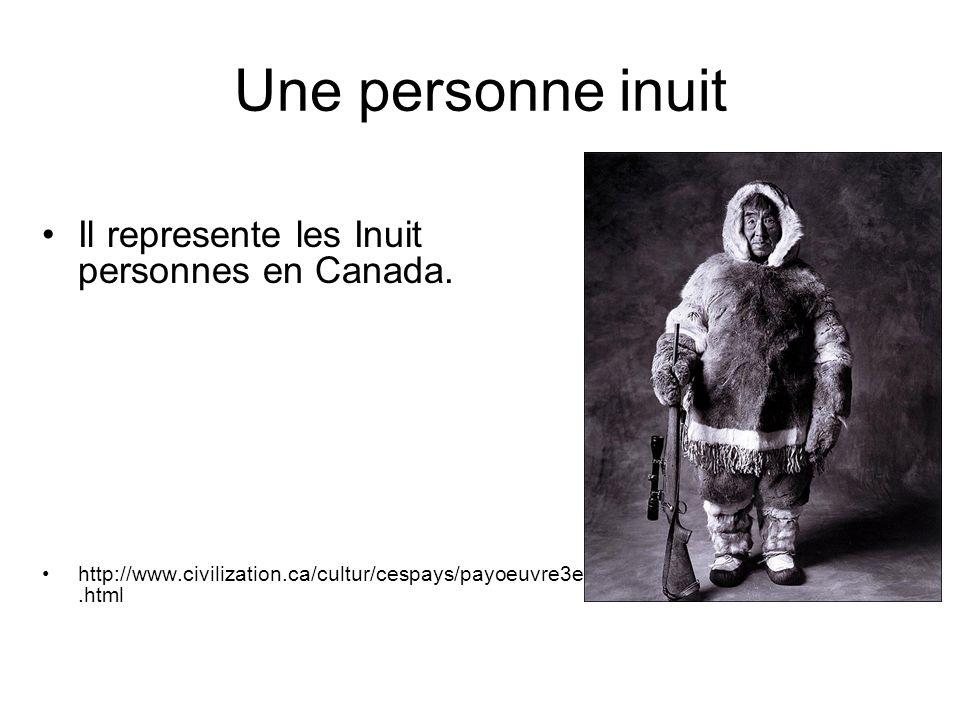 Une personne inuit Il represente les Inuit personnes en Canada.