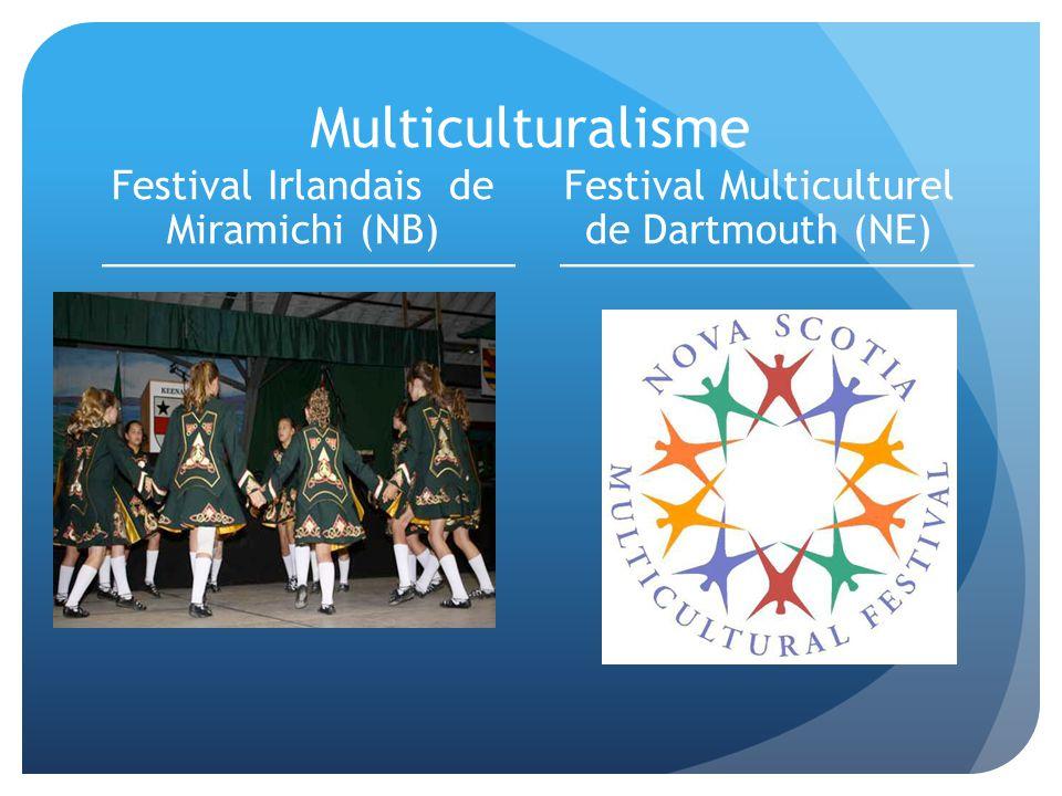 Multiculturalisme Festival Irlandais de Miramichi (NB) Festival Multiculturel de Dartmouth (NE)