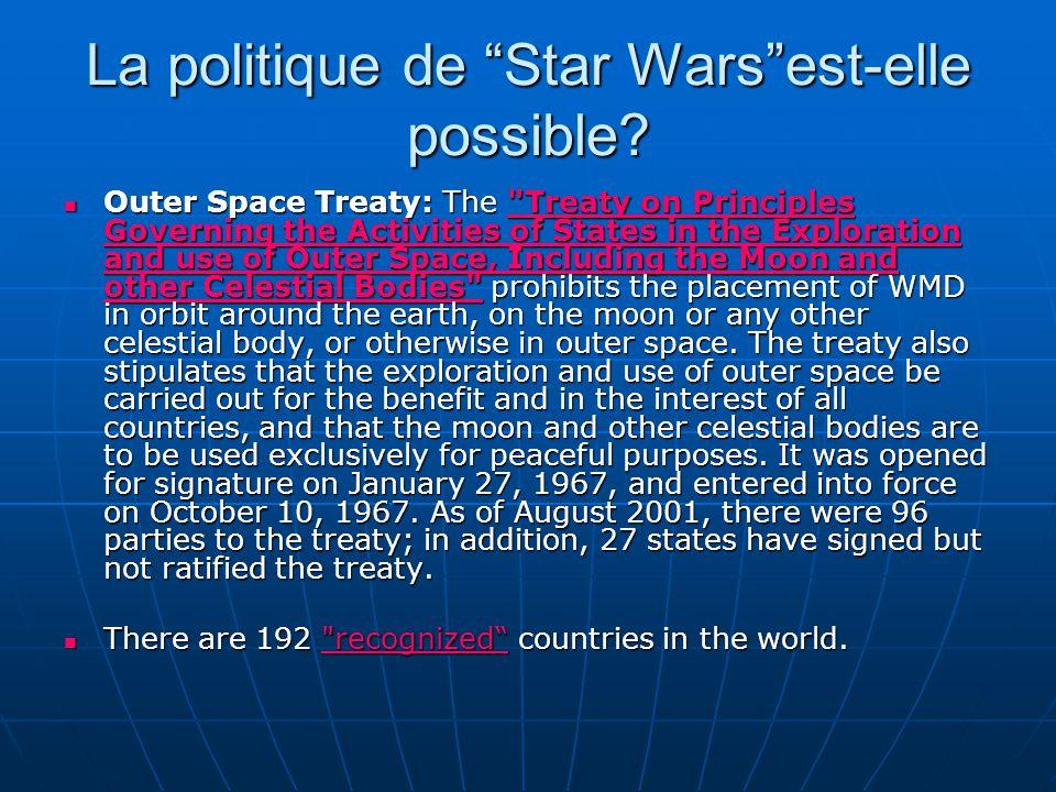 La politique de Star Warsest-elle possible.