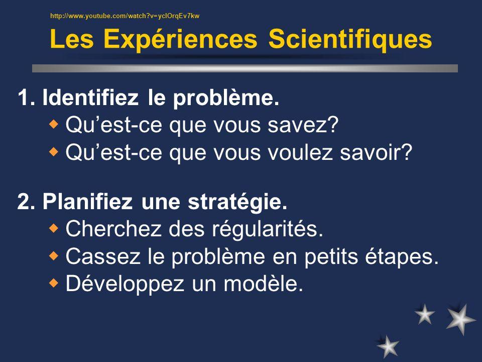 Les Expériences Scientifiques 1. Identifiez le problème.