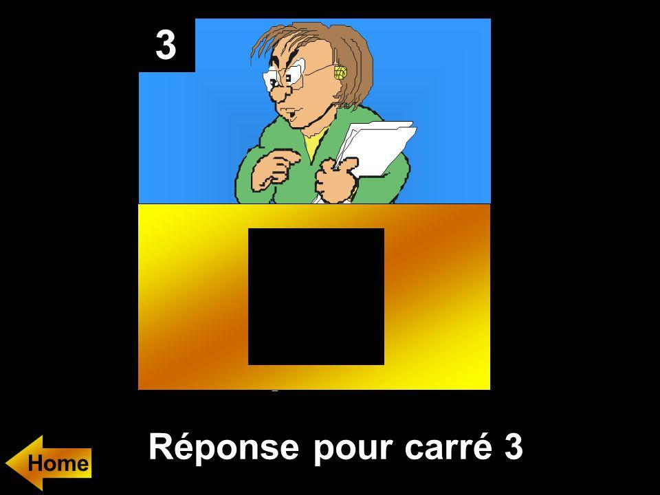 3 Réponse pour carré 3