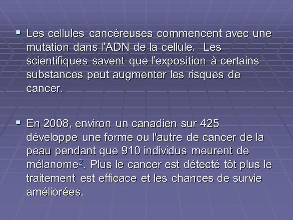 Les cellules cancéreuses commencent avec une mutation dans lADN de la cellule. Les scientifiques savent que lexposition à certains substances peut aug