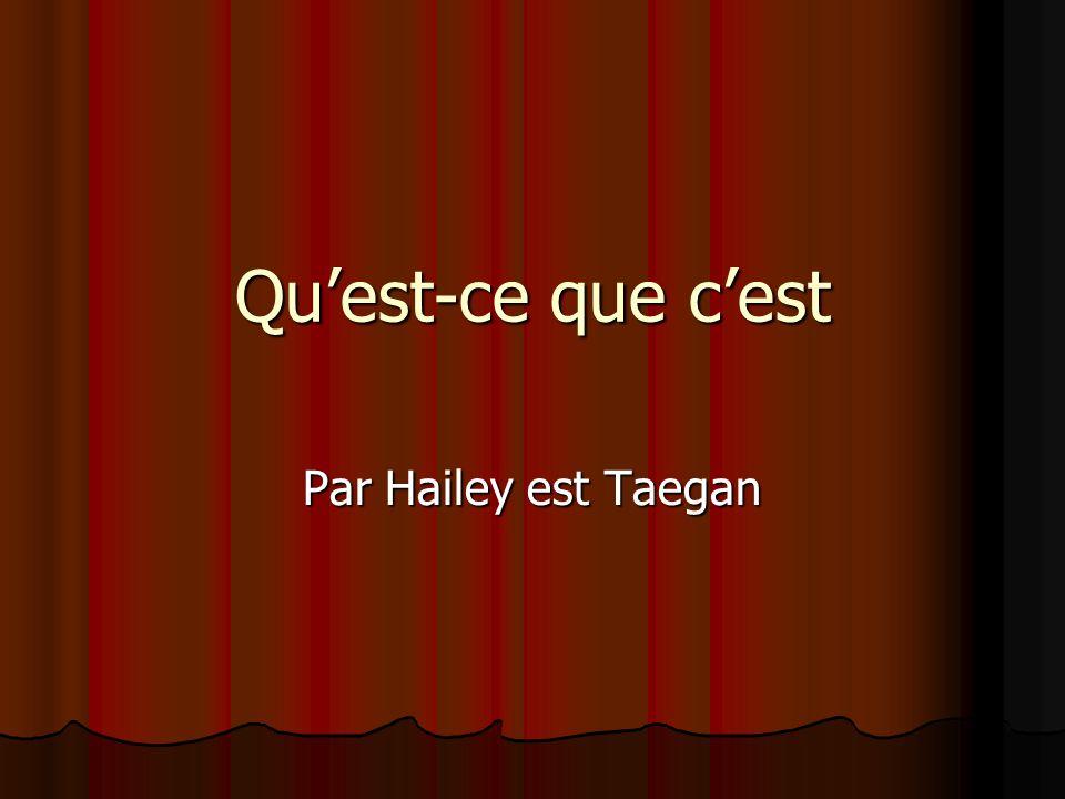 Quest-ce que cest Par Hailey est Taegan