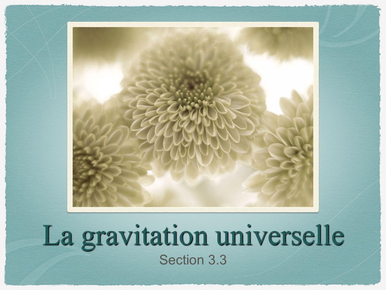 La gravitation universelle Section 3.3
