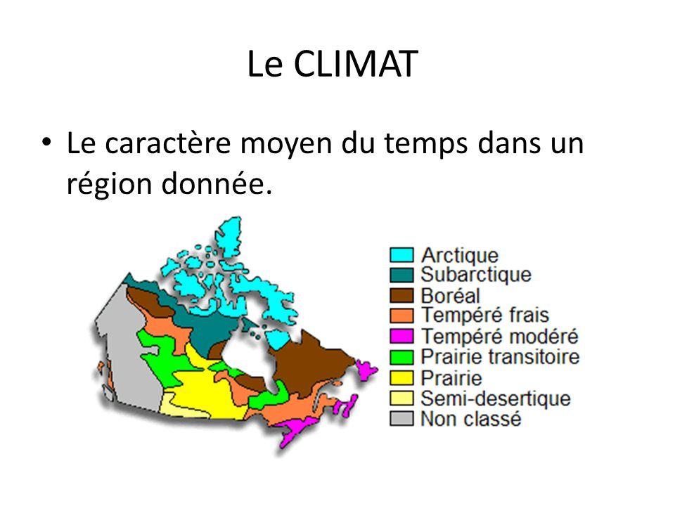 Le climat du nord du Canada est très froid; ses hivers sont longs et ses étés courts