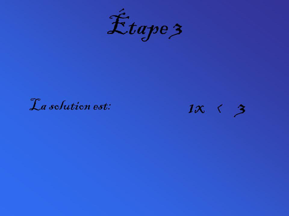 Étape 3 La solution est: 1x < 3